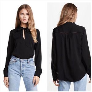 AYR The Crane Stretch Silk Shirt Black